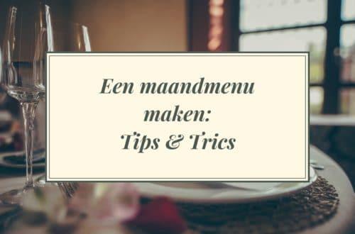 Een maandmenu maken: tips en tricks