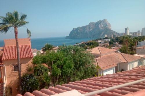 Het uitzicht vanop ons dakterras in Calpé, Spanje op de mooie rots!