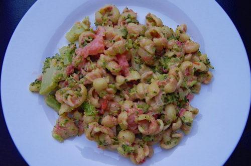 Gnocchi met zalm en broccoli