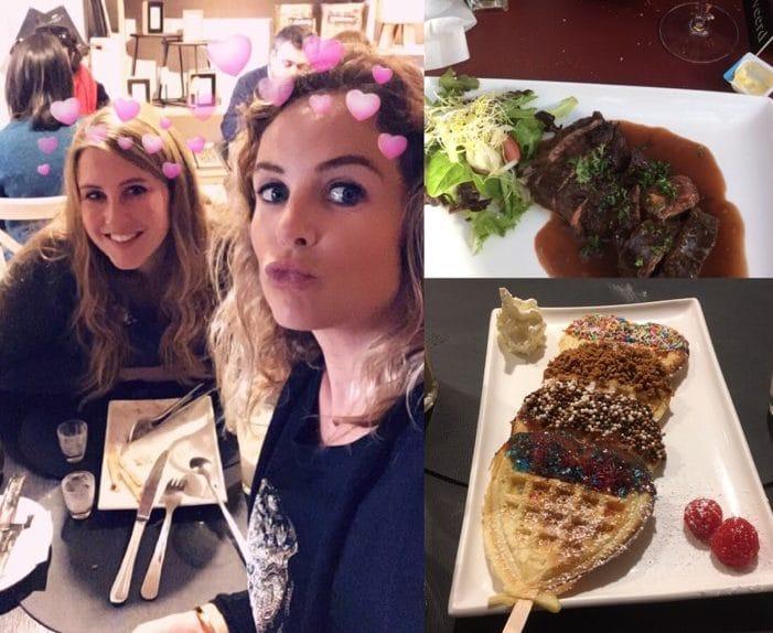 2 vriendinnen die samen genieten van een leuke middag samen