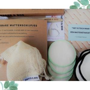 Een duurzame badkamer: wasbare wattenschijfjes en bamboe tandenborstel